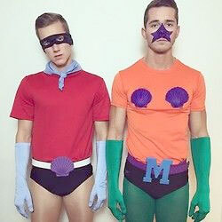 Mermaid Man And Barnacle Boy-Halloween costume